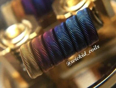 2x FULL N90 Competition 8ply Framed Staple Alien Coils +Free Coils! (Nichrome)