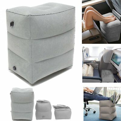 Plane Train Travel Inflatable Foot Rest Portable Leg Footrest Pillow Kids Bed