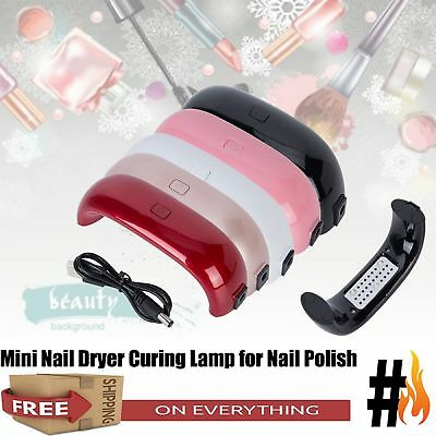 Mini Portable 9W LED Nail Dryer Curing Lamp Machine for UV Gel Nail Polish New