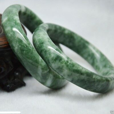 1pc Chinese Natural jade hand-carved beautiful green bracelet Size: 60mm