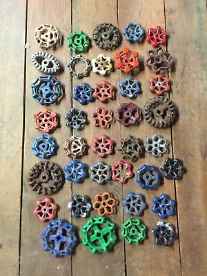 LOT OF 40 VINTAGE WATER SPIGOT HANDLES Steampunk Faucet Art Industrial Crafts