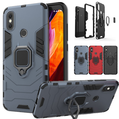 For Xiaomi Mi 8 5X 6X Redmi Note 4X 5 Pro Shockproof Armor Ring Stand Case Cover