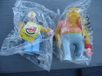 The Simpsons Homer Barney Burger King Figures