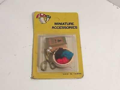 Vintage Dollhouse Miniature Accessories 3 Pc. Knitting Set NEW #4