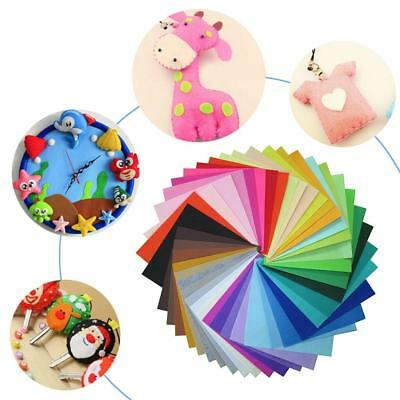 40pcs/set Non-Woven Polyester Cloth DIY Crafts Felt Fabric Sewing Accessories