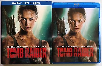 Tomb Raider 2018 Blu Ray Dvd 2 Disc Set + Slipcover Sleeve Free World Shipping