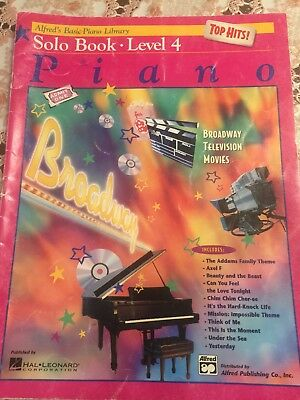 Solo Book Level 4 Piano Sheet Music /Alfred Basic Piano Library