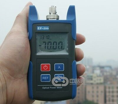 New Portable Handheld Fiber Optic Optical Power Meter -70~+10dBm 800~1650nm