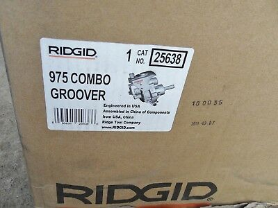 Ridgid 25638 (975) Roll Groover, Manual or Machine Mounted
