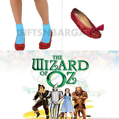 Dorothy Wizard Of Oz Sequin Ruby Red Slipper Shoe Cover Womens Adult Bookweek