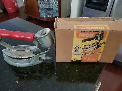 Vintage Original Pumpless Iron With Original Box