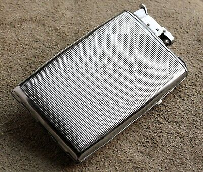 1940s Evans Cigarette Case and Lighter Combo. Carried in combat!