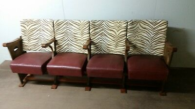Vintage theatre chairs - row of four