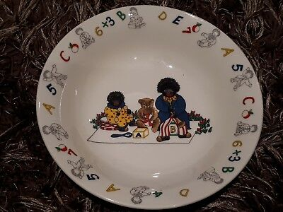 Golly Gosh childs bowl - RARE - gollywogs - good condition