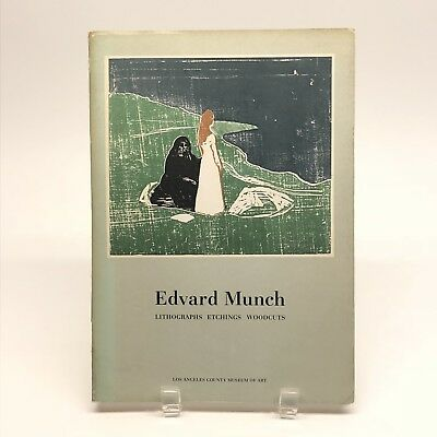 Edvard Munch Lithographs Etchings Woodcuts Los Angeles County Museum Art 1969