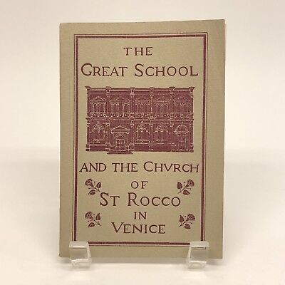 The Great School and the Church of St Rocco in Venice Italy 1961 Souvenir Book
