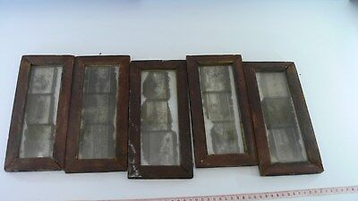 Lot of 5 Vintage Photographic Glass Plates Primitive Frames Rural Scenes
