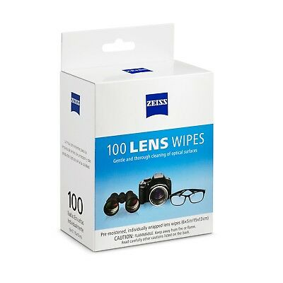Zeiss 100 Pre Moist Lens Wipes ideal glasses,Camera Cleaning Wipes