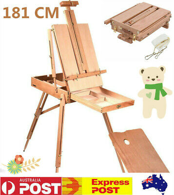 Portable Wooden Easel Artist Art Display Painting Tripod Stand Fold Sketch Box