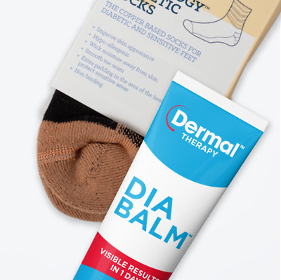 Foot Care | 2 X Glucology® Diabetic Socks Work & Outdoors | Dia-Balm Foot Cream