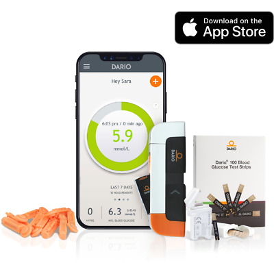 Diabetes Blood Glucose Monitoring System | For iPhone | Test Strips and Lancets