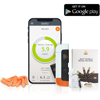 Diabetes Blood Glucose Monitoring System | Meter Lancets Strips | For Android