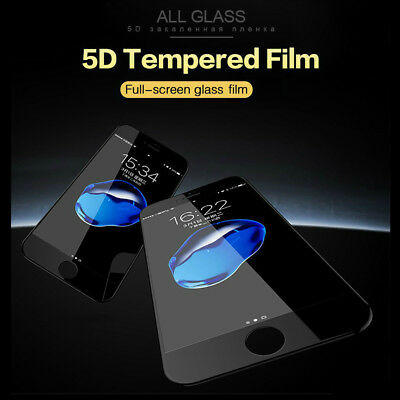 For Apple iPhone X 8 7 Plus 5D Full Cover Curved Tempered Glass Screen Protector