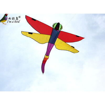NEW 1.4m 55In long tail Purple Peacock Butterfly Kite stunt Outdoor fun Toys
