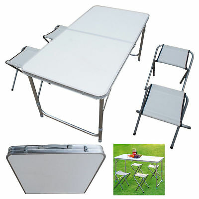 4FT Folding Table Heavy Duty Trestle Camping Party Picnic BBQ Stall Garden