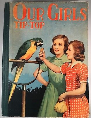 VINTAGE RENWICK OF OTLEY 1950s OUR GIRLS' TIP-TOP ANNUAL - FREE POSTAGE TO AUS