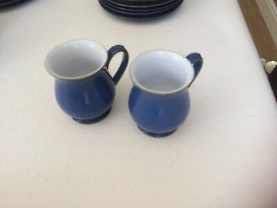 2 denby imperial blue mugs