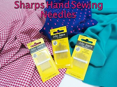 John James Quality General Purpose SHARPS Hand Sewing Craft Needle Packs