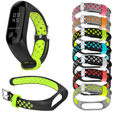 Dual Colors Sport Bracelet for Xiaomi Mi Band 3 Miband 3 Band Smart Watch Strap