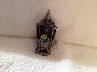 Vintage The Cauldron of Light Pewter Wizard Crystal Fantasy Figure 3006