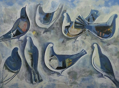 Georg Lang 1907-1986 - Hommage An Picasso Azul Palomas