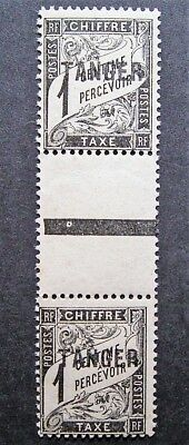 Tanger - Joined Pair Overprinted Tanger Revenue Stamps