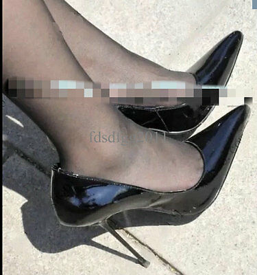 Women's Pointed Toe Patent Leather Stilettos OL Sexy Nightclub Party Pumps Shoes