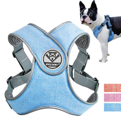 No-pull Small Medium Dog Soft Mesh Vest Breathable Step-in Reflective Harness