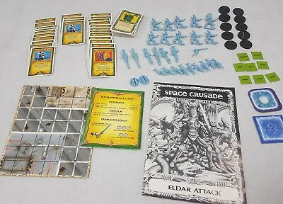 Eldar Attack - Space Crusade 100% complete expansion unglued unboxed [ENG,1991]