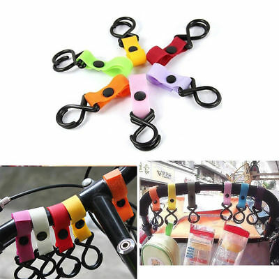 2018 Popular New Useful Plastic Baby Stroller Pram Pushchair Hanging Hooks Clips