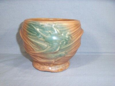 """1930's Nelson McCoy  Pottery W/ Swallows Jardiniere/Vase 4.25"""" Tall - 5.5"""" Wide"""