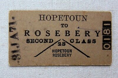 VICTORIAN RAILWAYS - Used 1971 - Hopetoun to Rosebery  - Second Class single