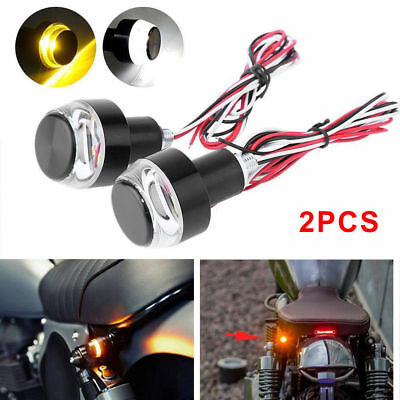 2X Motorcycle Turn Signal LED Light Indicator Blinker Handle Bar End Handlebar T