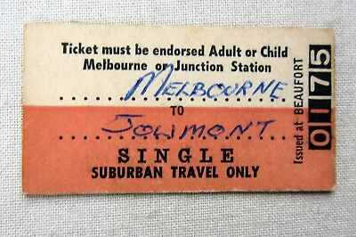 VICTORIAN RAILWAYS - Beaufort issue - Single Suburban Travel