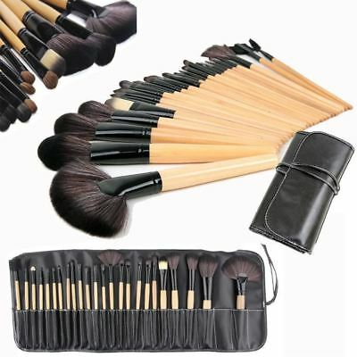 24 Pcs Professional Make Up Brush Set Foundation Brushes Kabuki Makeup Set+CASE