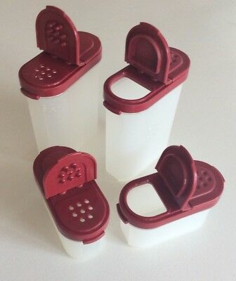 4 Pieces (2 Sets ) Vintage Tupperware Small Containers
