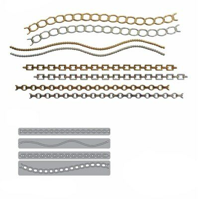 Lace Edge Chain Metal Cutting Dies Stencil Scrapbooking Album Embossing Decor
