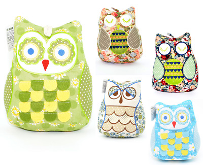 Door Stop Stopper Owl Fabric Floor Novelty Filled Heavy Weighted New Home Gifts