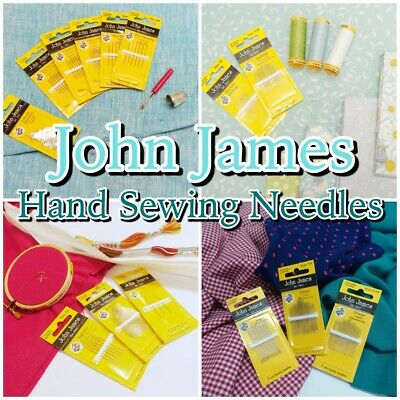 John James Quality HAND SEWING NEEDLES Quilting + Craft Needle Packs