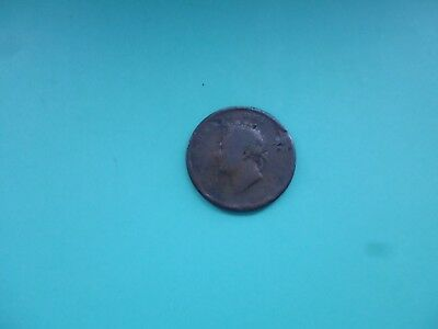George Iv Penny In Worn Condition